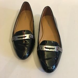 Coach Ruthie Black Patent Leather Loafer, Size 6